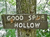 Sign at bottom of Good Spur Hollow