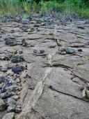 Deformation bands in massive sandstone
