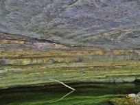 Close-up of massive sandstone channel cutting across interbedded sandstone/shale