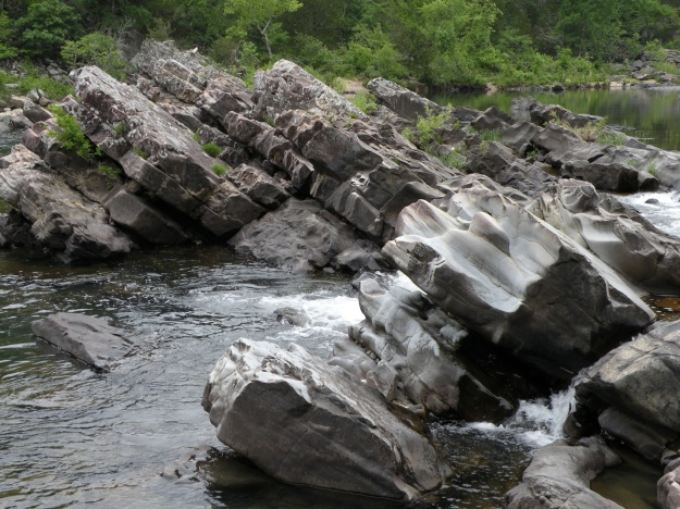 Tilted Rock at Cossatot Falls