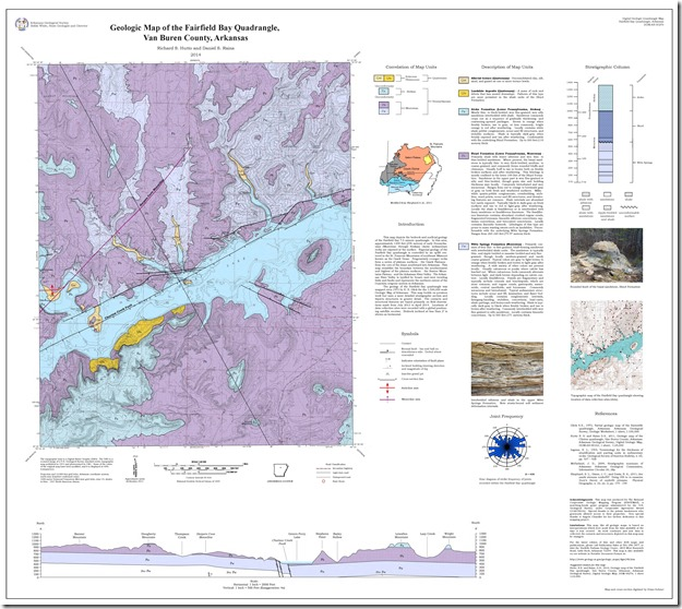 Geologic Map of Fairfield Bay red