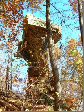 Sandstone pedestal at Pedestal Rocks, Pope County