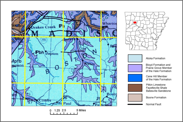 Ozarks Arkansas Map.Ozark Mountains Arkansas Geological Survey Blog