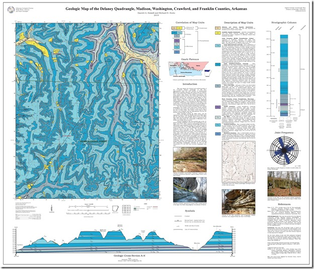 Geologic Map of Delaney Quadrangle