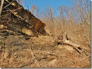 Landslide in Atoka near Frog Bayou